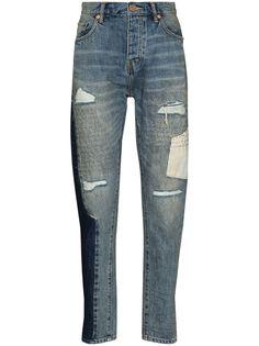 Purple Brand зауженные джинсы Sashiko Repair