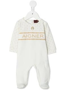 Aigner Kids комбинезон для новорожденного с логотипом
