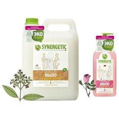 Набор мыла жидкого Synergetic Миндальное молочко 5 л. + Аромагия 500 мл.