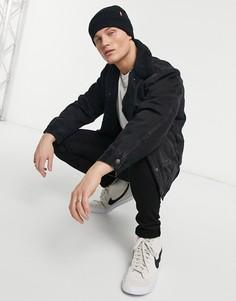 Джинсовая куртка с подкладкой из искусственного меха и накладными карманами Levis-Черный цвет Levis®
