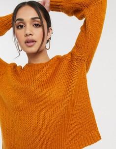 Оранжевый джемпер с круглым вырезом и длинными рукавами Only-Оранжевый цвет