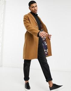 Пальто-кокон с добавлением шерсти Harry Brown-Светло-коричневый