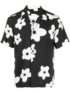 Sandro Paris рубашка с короткими рукавами и цветочным принтом