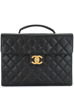 Chanel Pre-Owned стеганый портфель Jumbo с логотипом CC