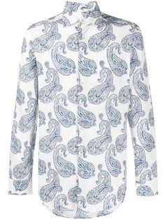 Etro рубашка с длинными рукавами и принтом пейсли