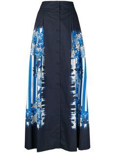 Alberta Ferretti юбка макси в полоску