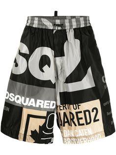 Dsquared2 спортивные шорты с логотипом