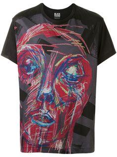 Yohji Yamamoto футболка с абстрактным принтом