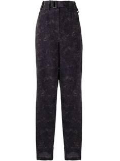 Lemaire зауженные широкие брюки с абстрактным принтом