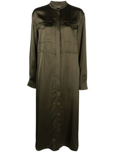 Jil Sander платье-рубашка длины миди