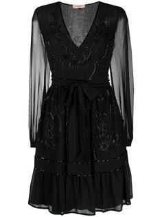 Twin-Set коктейльное платье с бисером
