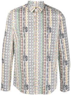 Fendi рубашка с логотипом