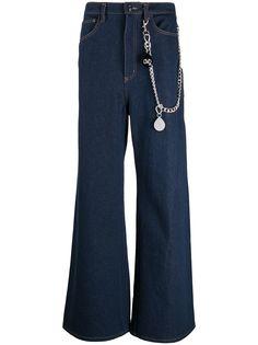 DUOltd широкие джинсы с цепочкой