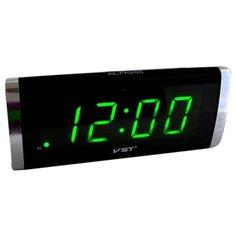 Часы настольные VST 730 черный/зеленый