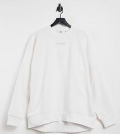 Белый вельветовый oversized свитшот от комплекта COLLUSION Unisex