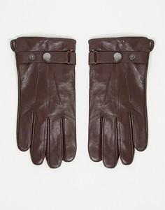 Коричневые перчатки из овечьей кожи Peter Werth-Коричневый цвет