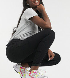 Зауженные черные брюки-карго Dr Denim Tall Lexy-Черный цвет