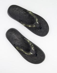 Черные шлепанцы TOMS trvl-Черный цвет