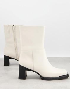 Кремовые ботинки на среднем каблуке Vagabond Edwina-Белый