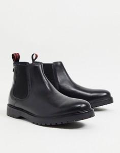 Черные кожаные ботинки челси Base London Anvil-Черный цвет