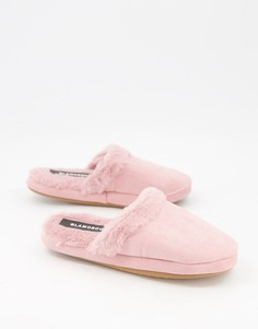 Бледно-розовые пушистые слиперы Glamorous-Розовый цвет