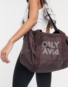 Коричневая спортивная сумка с логотипом Only Play Nia-Коричневый цвет