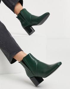 Темно-зеленые ботинки челси на каблуке Glamorous-Зеленый цвет
