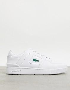 Белые кроссовки со вставками Lacoste Court Cage-Белый