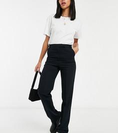 Строгие брюки прямого кроя ASOS DESIGN Tall-Черный цвет