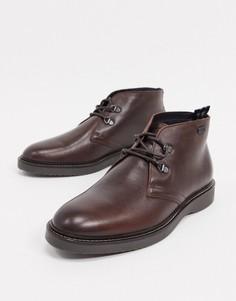 Темно-коричневые кожаные ботинки Barbour International Piston-Коричневый