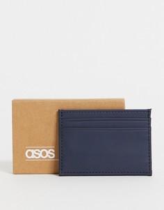 Темно-синяя кредитница из искусственной кожи ASOS DESIGN-Темно-синий