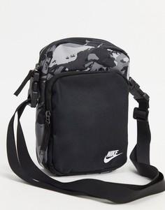 Черная сумка для авиапутешествий с камуфляжным принтом Nike Heritage-Черный цвет