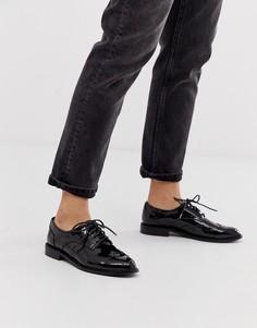 Черные туфли на плоской подошве ASOS DESIGN-Черный