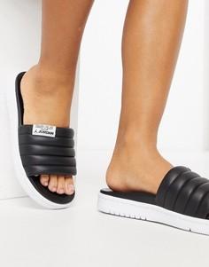 Черные шлепанцы Jordan Modero 2-Черный цвет