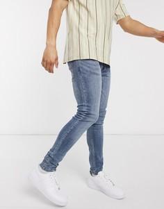 Светло-синие зауженные джинсы Brave Soul-Голубой