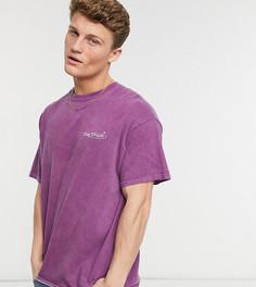 """Фиолетовая окрашенная oversized-футболка с принтом """"Day Dream"""" New Look-Сиреневый"""