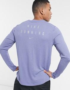 Голубой лонгслив Nike Running Run Division