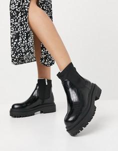 Черные ботинки на массивной платформе RAID Robin-Черный цвет