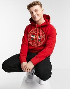 Худи красного цвета с логотипом в круге Tommy Hilfiger-Красный
