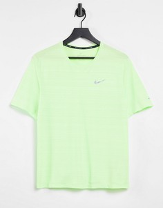Неоново-зеленая футболка Nike Running Miler-Желтый