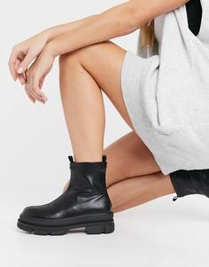 Черные ботинки челси на массивное подошве RAID Dusty-Черный цвет