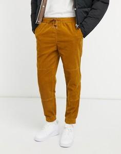 Светло-коричневые вельветовые джоггеры в утилитарном стиле New Look-Серый