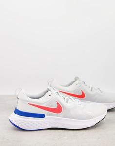 Кремовые кроссовки Nike Running React Miler-Белый