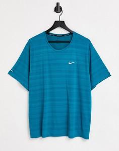 Бирюзовая футболка Nike Running Miler-Зеленый цвет