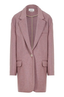 Розовое шерстяное полупальто Isabel Marant Etoile