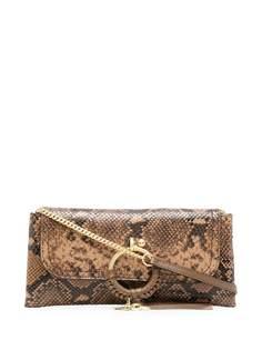 See by Chloé сумка через плечо со змеиным принтом