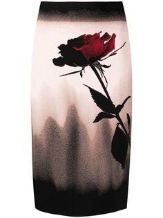 Alexander McQueen юбка-карандаш с цветочным принтом