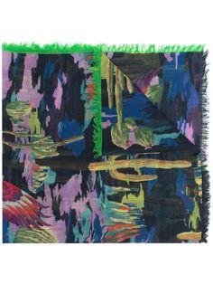 Etro кашемировый шарф с принтом