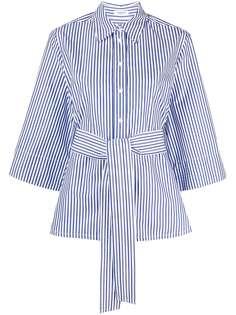 P.A.R.O.S.H. полосатая рубашка с завязками на талии
