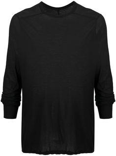 Rick Owens полупрозрачная футболка с длинными рукавами